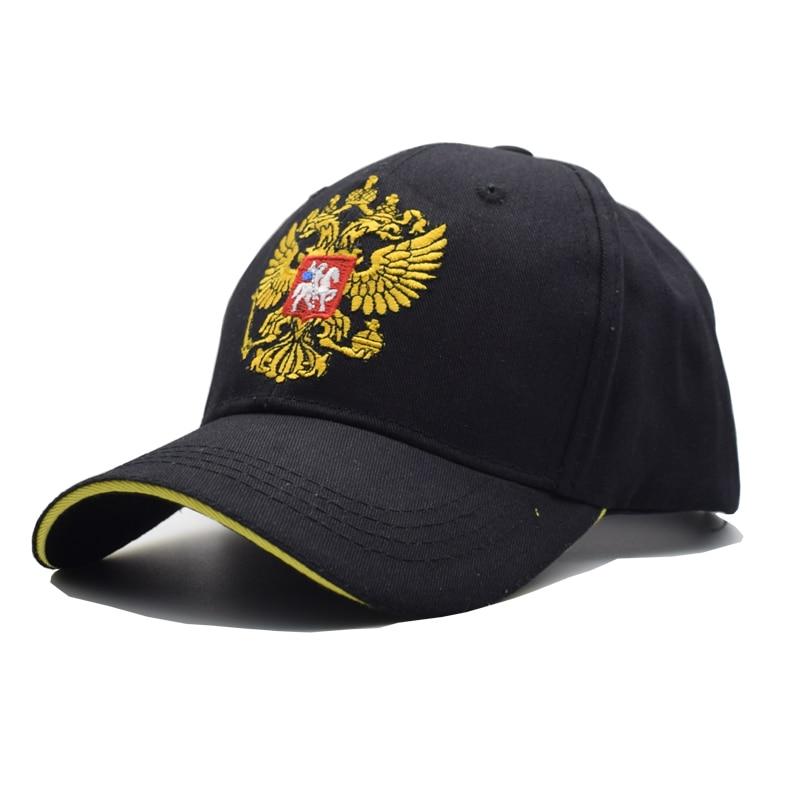 Černá čepice Ruský znak Výšivka Baseballová čepice Snapback Čepice Casquette Klobouky Fit Casual Casual Gorras Patriot Cap pro muže Ženy