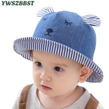купить New Fashion Cowboy Baby Sun Hat Summer Cap for Boys Bucket Hats for Girls Rabbit Ears Cap for Kids Children Sun Hat Caps онлайн