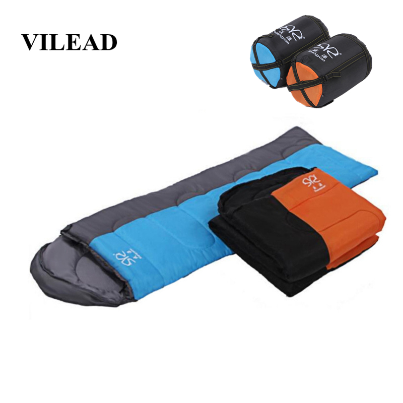 VILEAD 2 Colors  Envelope type Sleeping Bag Portable Ultralight Waterproof Hiking Camping Stuff Adult Camp Quilt LightweightVILEAD 2 Colors  Envelope type Sleeping Bag Portable Ultralight Waterproof Hiking Camping Stuff Adult Camp Quilt Lightweight