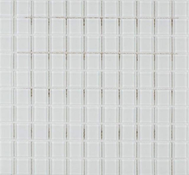 Klar Weiss Glass Mosaik Kristall Fliesen Netzeinsatz Badezimmer