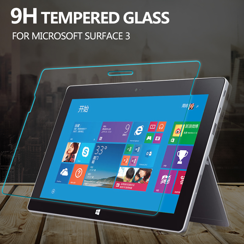 9H Tempered Glass Screen Protector Film For microsoft surface 3 Glass Protective Film For surface 3