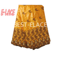 Super deal 5 yards africain soie grège george dentelle tissu indien george emballages pour le mariage robe/shirtsequins 531o