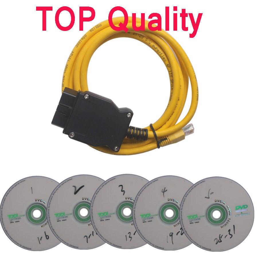 LA SAJR Données Câble Pour b-mw ENET Ethernet à OBD OBDII 2 Interface Données E-SYS ICOM Codage pour F-série Livraison Gratuite