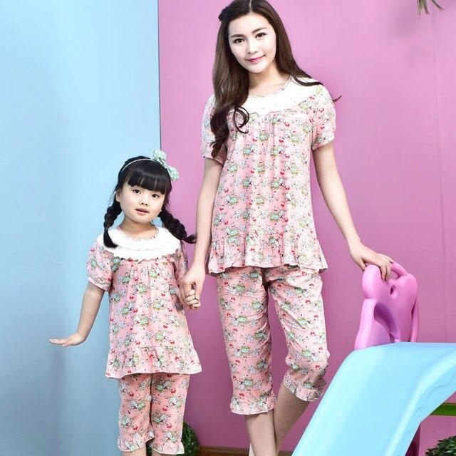 Семейные Рождественские пижамы детские пижамы для девочек соответствия мать и дочь одежда дети пижамы Хлопок печати Домашней одежды