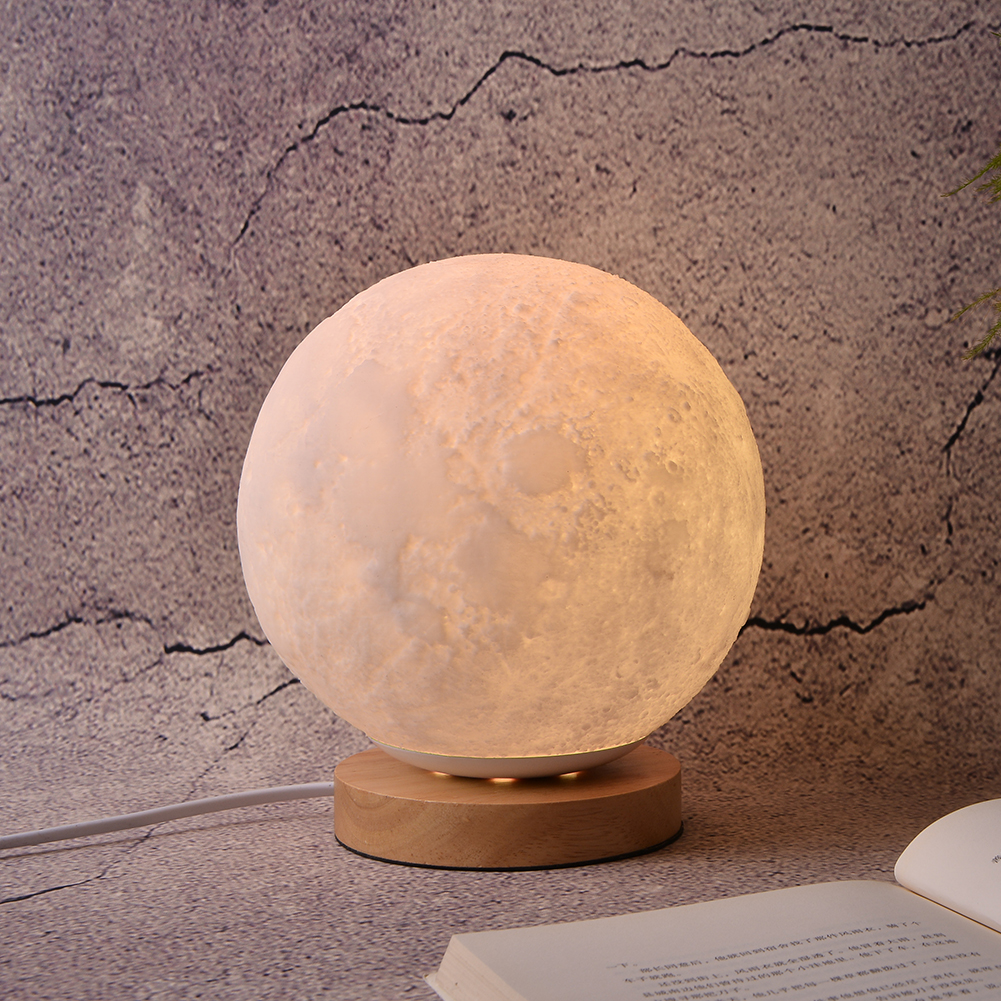 LED Night Light Moon Lamp 3D Print Moonlight Luna Touch 2 Colors Change For Creative Gift Home Decor magnetic floating levitation 3d print moon lamp led night light 2 color auto change moon light home decor creative birthday gift