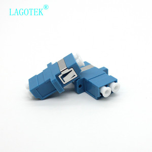 Image 4 - 25/50/100/200Pcs LC UPC Duplex single mode Fiber optic Adapter LC Optical fiber coupler LC UPC Fiber flange LC connector