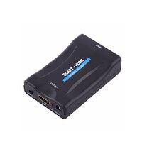 Jninsens HD 1080 P Convertidor de Señal SCART A HDMI Video Audio de Lujo adaptador para HD TV DVD para Sky Box STB Envío de La Gota