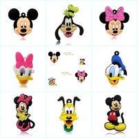 50pieces Mickey Cartoon PVC 2CM Powerful Fridge Magnets Home Decor Souvenir Magnetic Stickers Refrigerator Magnet Party Favors