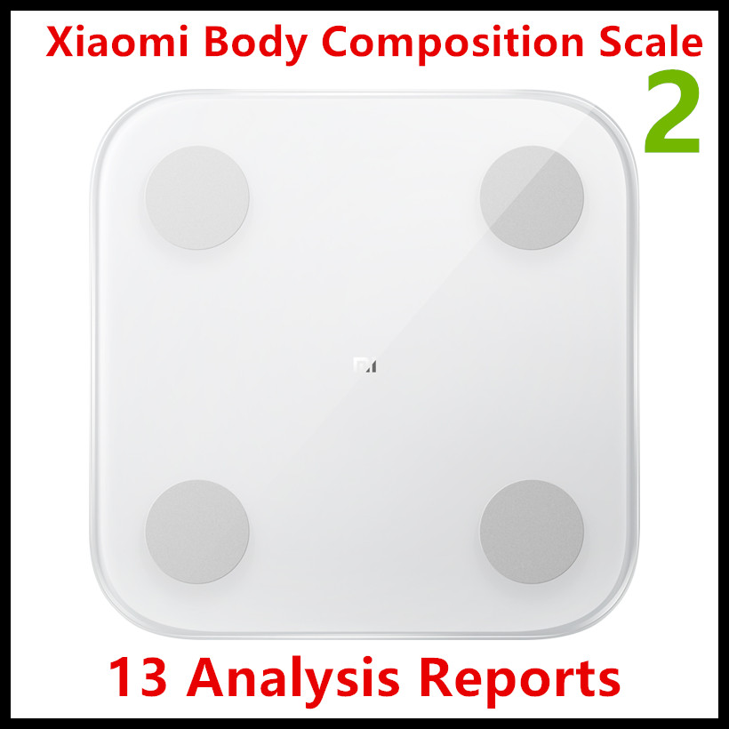 2019 nouvelle échelle de Composition corporelle Xiao mi 2 13 Repots d'analyse échelle de graisse corporelle mi 2 mi ajustement APP contrôle avec affichage de LED caché