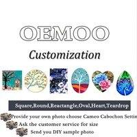 2017 Handmade Professional Customized Ask Customer Service Flatback Glass Cameo Cabochon Domed DIY Jewelry Photo Pendant