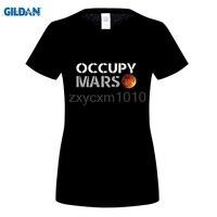 GILDAN Elon Musk T shirt Teen Occupy Mars T-shirt Broad Trend 2017 New Arrival women Long Sleeve Tshirts Teen Round Neck T shirt