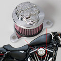 Sistemas de Filtro de Admissão De Ar Mais Limpo Do Crânio Do Pirata do motor Cromado Kit Para 88-15 Harley Sportster 48 72 XL883 XL1200 modelos