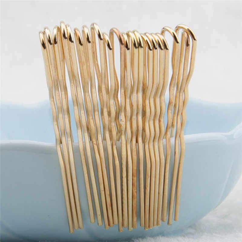 20 pz/lotto Nero/Metallo dorato Hairstyling Sottile Forma di U Pinze Set Bobby PinsDIY Styling Forcelle Dei Capelli Updo Ricci Twist ondulato Grips