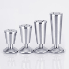 4pcs Stainless Steel Furniture feet Thickening Adjustable Cabinets legs Sofa feet With Screws as Gifts 8/10/12/15cm height