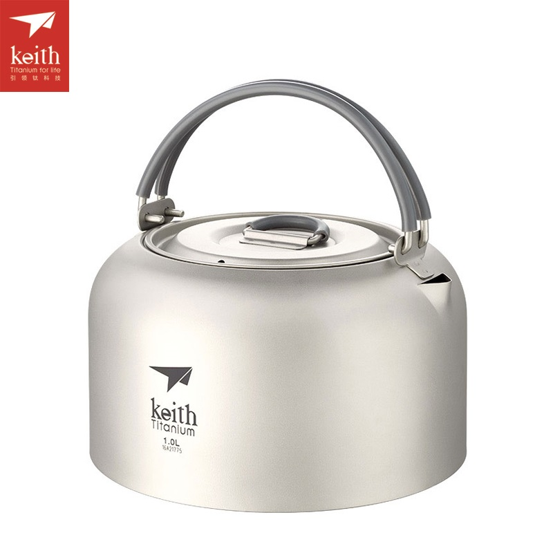 Keith 1L-1.5L Titanium Kettle Ultralight Camping Kettle Outdoor Cookware Tea Pot Ti3901/Ti3907 цена