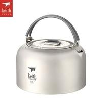 Keith 1L 1.5L Titanium Kettle Ultralight Camping Kettle Outdoor Cookware Tea Pot Ti3901/Ti3907