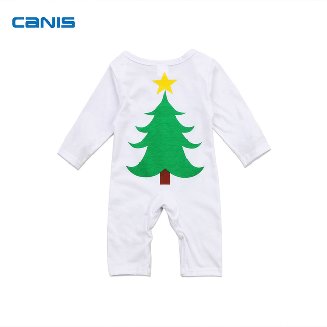 82007d6e75c Xmas Tree Newest Fashion Cute Cotton Newborn Toddler Infant Baby Boys Girls Jumpsuit  Romper Hot Outfit Clothes