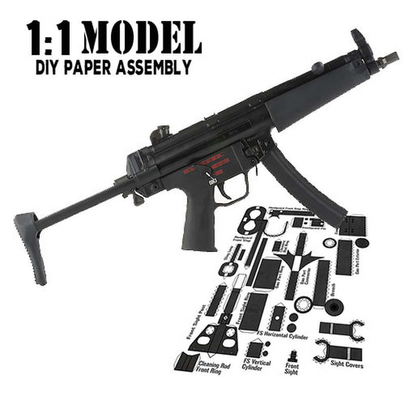 Building & Construction Toys 1:1 Hk-g36 Toy Gun Model Paper Assembled Educational Toy Building Construction Toys Card Model Building Sets Convenience Goods