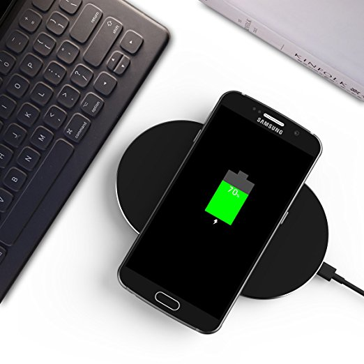 Free Shipping  Foxin QI Ultra-Slim 3 Coils Metal Aluminum Wireless Charging Pad for IPhone 8 and All Qi-Enabled Devices qi wireless charger charging receiver transparent cover