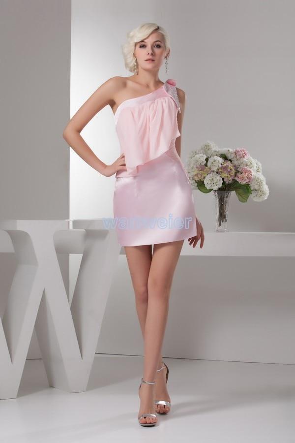 free shipping 2018 new design hot sale good quality real image beading mini pink sweet short sexy custom Prom   bridesmaid     Dress