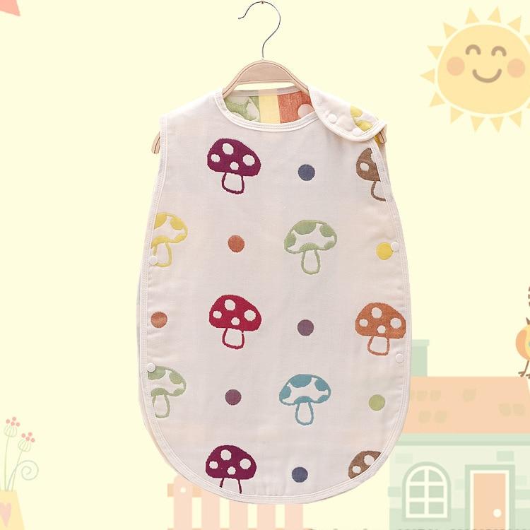40 * 60 cm Algodón 3 Capas Gasa Bebé Saco de dormir Niños Ank Kick - Ropa de cama
