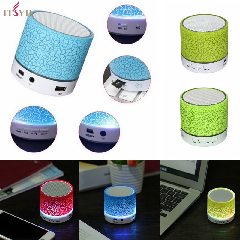 ITSYH LED Mini Bluetooth Speakers For TF USB FM Phone Portable With Wireless Hands Free Speaker TW-828