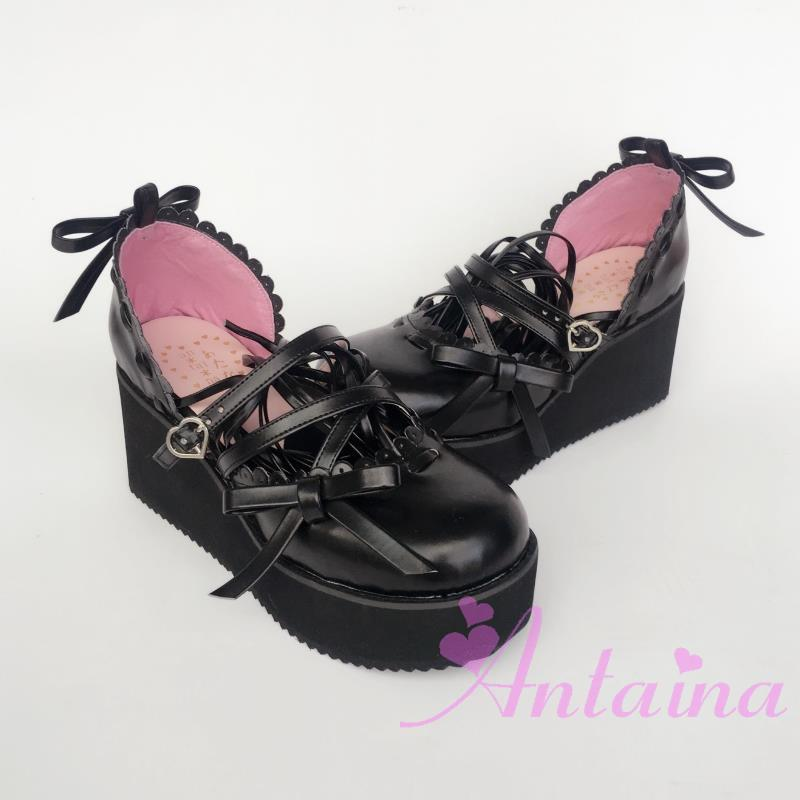 Princess sweet lolita gothic lolita shoes custom  lolita cos punk laciness bow princess shoes 9845  cosplay аксессуары для косплея meow sweetie cos cos cos lolita cosplay