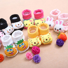 24 Style Lovely Cute Newborn Baby Socks Animal Cartoon Doll Infant Socks