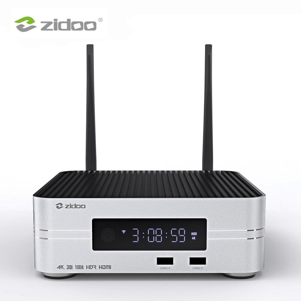 Z10 zidoo 4 k hdd media player até 10 tb 2g ddr 16g emmc smart tv conjunto superior caixa 10bit uhd framerate automático de comutação sdr para hdr
