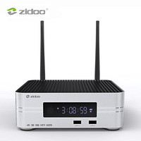Zidoo Z10 Смарт ТВ Box Android 7,1 4 к HD медиа плеер NAS 2 Гб DDR 16 Гб памяти на носителе eMMC телевидения Декодер каналов кабельного телевидения 10Bit Android компь
