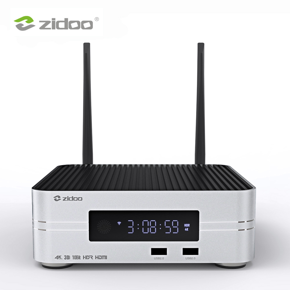 Zidoo Z10 4K TB HDD Media Player até 10 2G DDR 16G eMMC Set Smart TV top Box UHD 10Bit Framerate SDR de Comutação Automática para HDR
