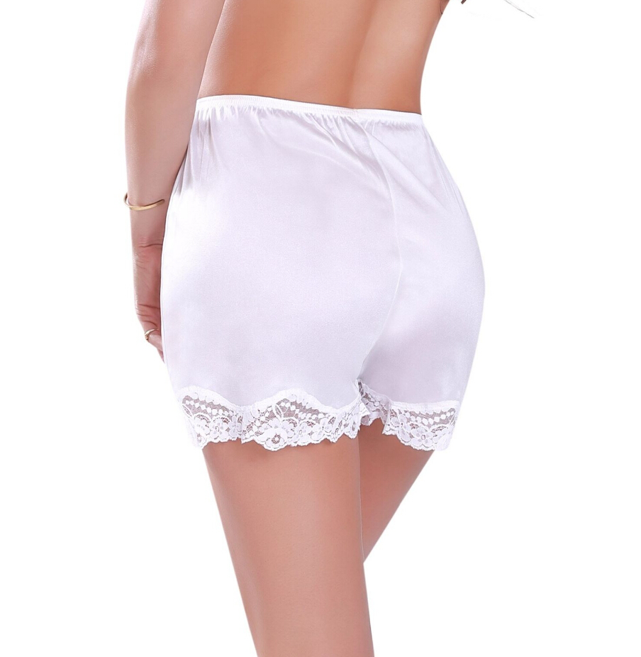Women Lace Sleep Short Pants Under Briefs Shorts Slips Home Solid Soft Sleep Bottoms Casual Clothes