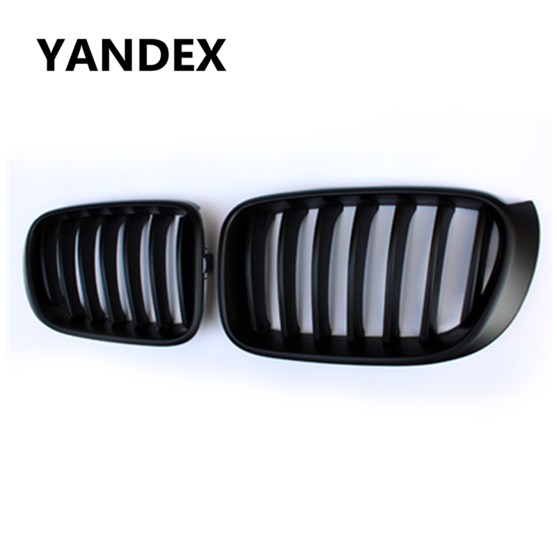 YANDEX X3 X4 replacement 1-salt ABS black M colour front kidney Grille For BMW X3 X4 F25 F26 sDrive20i sDrive28i grill mesh yandex печку на трактор мтз