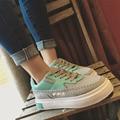 Большой Размер Мода Женская Обувь, босоножки, Холст Обувь Кроссовки Платформа Круглый Носок Случайные Женская Обувь 3 Цвета