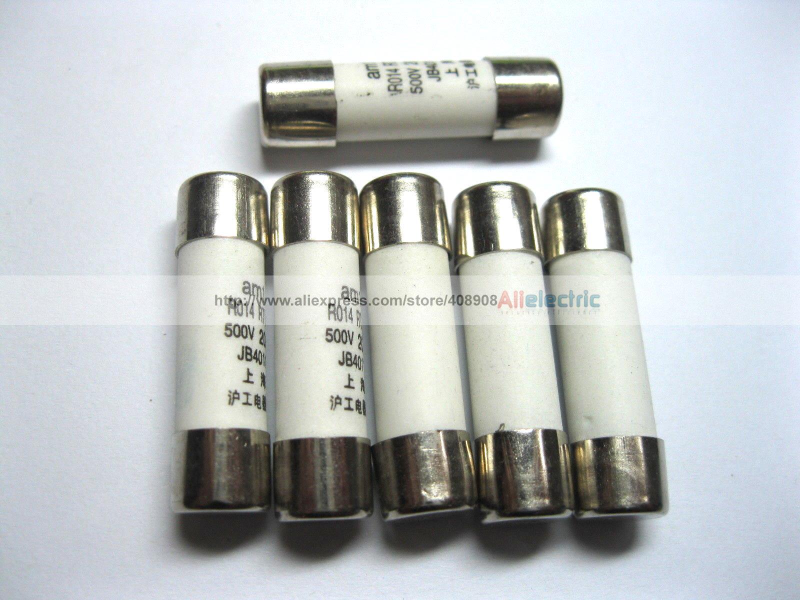 50 Pcs Ceramic Fuses 2A 500V 8.5mm x 31.5mm 1000 pcs fast blow glass fuses 3 15a 250v 5mm x 20mm