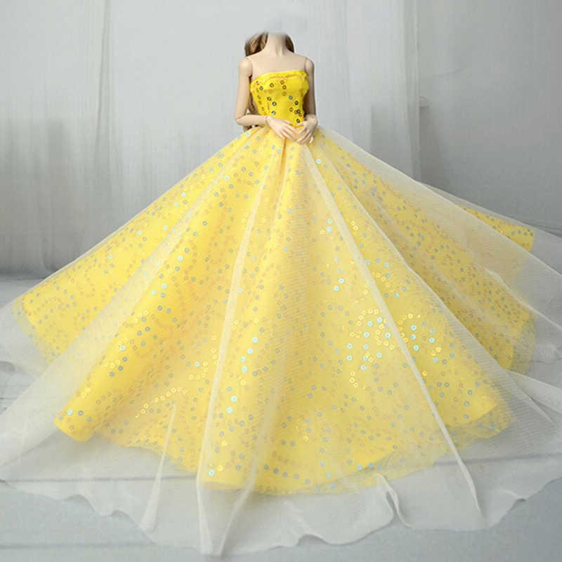 15 стилей Элегантное свадебное платье для куклы Принцесса Вечерняя одежда длинное платье наряд с вуалью для кукол