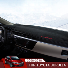 For Toyota Corolla 2008-2013 2014 2015 2016 2017 2018 Car Dashboard Avoid Light Pad Instrument Platform Desk Cover Mats Carpets