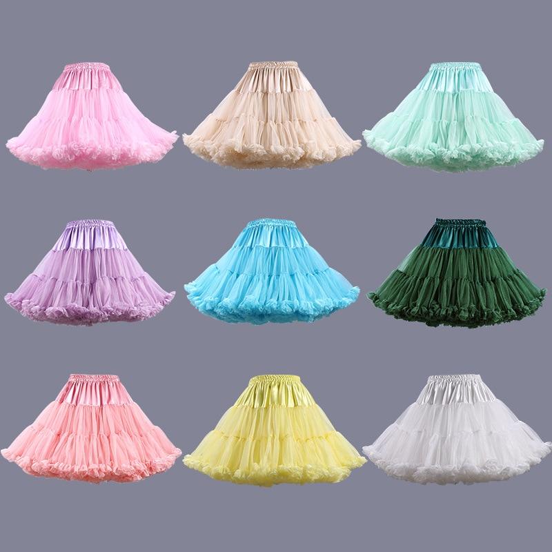 FOLOBE Berkualiti Tinggi 40cm Tinggi Berpakaian Tinggi Ball Gaun Tulle Tutu Skirt Mini Skirt Ballet Dancewear Dewasa TT004