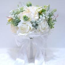 Blue Flowers Bouquet Wedding White Bridal Bouquets Red Orange De Mariage