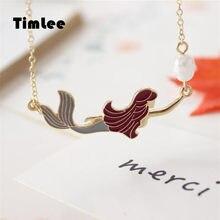 Timlee N152 lindo exquisita imitación de colgante de perla collares Popular venta al por mayor de joyería