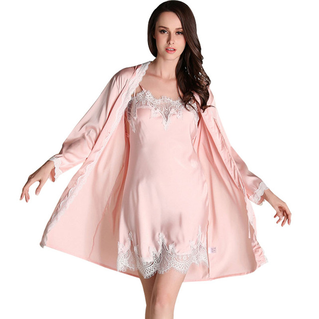 Robe Nightgown Robe Sleeping Womens Dressing Gown Robe Pijama Feminino Nightgown Robe Sets Camison Sexy Mujer Bathrobe