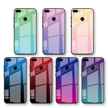 2019 Gradient Class Case For Huawei Y6 Prime 2018 Colorful change back cover for huawei Honor magic 2 P Smart plus case