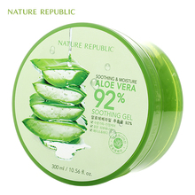 Nature Republic Soothing Moisture ALOE VERA 92% Gel 300ML Korea Cosmetics Acne Treatment Face Cream for Hydrating Moist