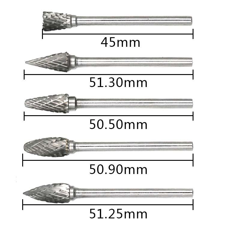 Brocas de cono de acero diamante cortador de carburo de tungsteno