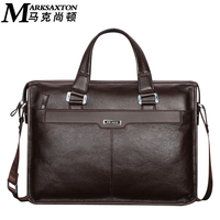 MARK SAXTON Brand Designer 100 Guarantee REAL Genuine Leather Bag 14 Laptop Bag Perfect Quality Dress