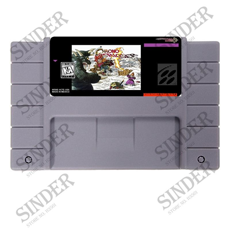 Chrono Trigger USA Version 16 bit Grande Grigio Card Game Per NTSC Giocatore del Gioco