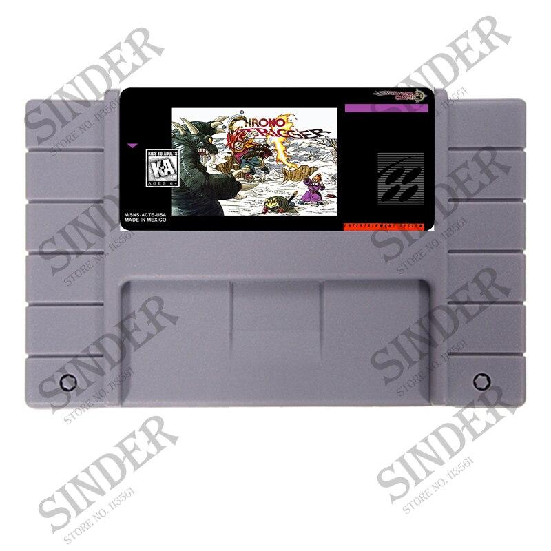Chrono Trigger ee.uu. versión 16 poco grande gris tarjeta de juego para NTSC Game Player