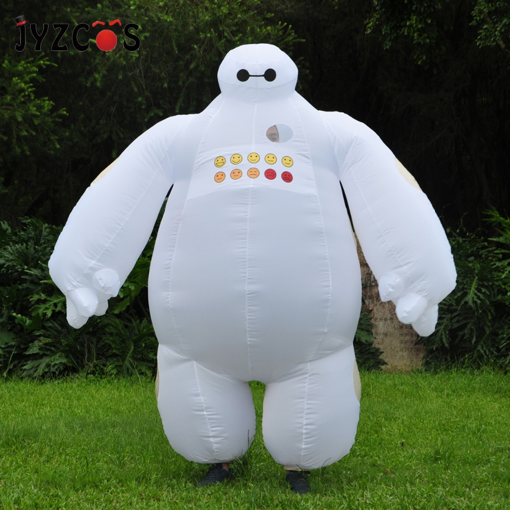 JYZCOS pourim Halloween Costume gonflable grand héros 6 Baymax fête Cosplay Costume pour hommes femmes adulte Baymax mascotte fantaisie robe