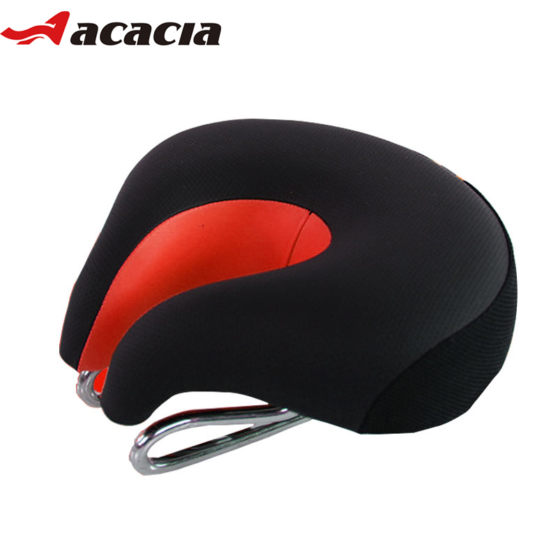 ACACIA High Resilient Bike Saddle Noseless Wide Thicken Bicycle Saddle Soft Comfortable MTB Mountain Road Bicycle Bike <font><b>Seat</b></font> Mat