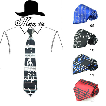 "FREE SHIPPING-2019 HOT 4 inch 20 Fashion""Novelty Music Note/Spectrum""Design Mix Polyester Woven Classic Men`s Party tie gravata"